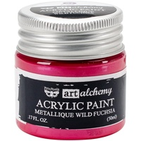 Finnabair Art Alchemy Acrylic Paint 50ml Metallique Wild Fuchsia