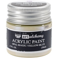 Finnabair Art Alchemy Acrylic Paint 50ml Opal Magic Yellow-Blue