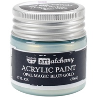 Finnabair Art Alchemy Acrylic Paint 50ml Opal Magic Blue-Gold