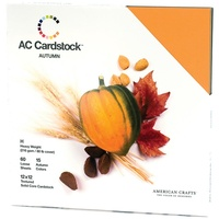 American Crafts 12x12 CARDSTOCK 60 Sheets 216gsm Autumn
