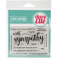 "Avery Elle Clear Stamp Set 4""X3"" Sympathy"