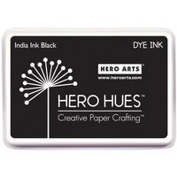 Hero Hues Dye Ink Pad India Ink Black