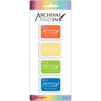 Archival Mini Ink Pad (Kit 3) 4 Colours