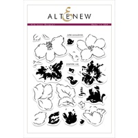 Altenew Hibiscus Bouquet Stamp Set ALT1543