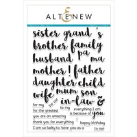 Altenew Family Matters Stamp Set FREE SHIPPING