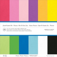 American Crafts Smooth Cardstock 12X12 48 Sheets Primaries