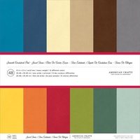 American Crafts Smooth Cardstock 12X12 48 Sheets Jewel Tones