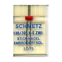 Schmetz Twin Embroidery Needle 3.0mm 75/11