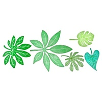 Cheery Lynn Designs B119R Tropical Leaves
