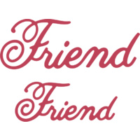 Cheery Lynn Designs B285 Friend (Set of 2) Dies