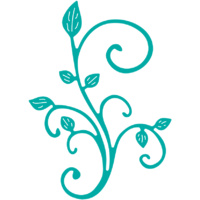 Cheery Lynn Designs B291 Mini Fanciful Flourish Right
