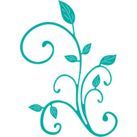 Cheery Lynn Designs B292 Fanciful Flourish Left