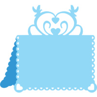 Cheery Lynn Designs B300 Hearts and Doves Placecard #2 FREE SHIPPING