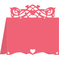 Cheery Lynn Designs B301 Hearts Flourish Placecard #3 FREE SHIPPING