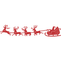 Cheery Lynn Designs B326 Santa's Sleigh and Reindeer Dies