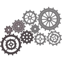 Cheery Lynn Designs Gears (Set of 9) - B340 FREE SHIPPING