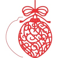 Cheery Lynn Designs B478 Ornate Ornament with Angel Wing