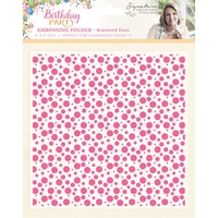Sara Davies Birthday Party 6x6 Embossing Folder Scattered Dots