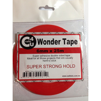 Wonder Tape DoubleSided 6mm x 25m STRONGEST Tape