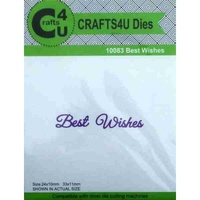 Crafts4U Die Script Best Wishes