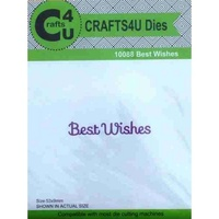 Crafts4U Die Best Wishes