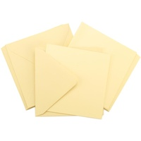 10 Square Cream Cards and Envelopes 5.5 x 5.5