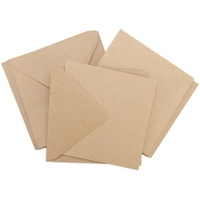 10 Square Kraft Cards and Envelopes 5.5 x 5.5