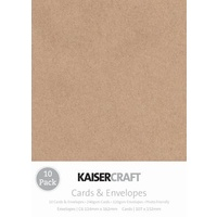 10 Kraft A6 Cards and Envelopes 240gsm