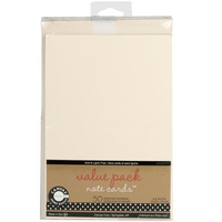 50 Blank Ivory Cards and Envelopes 4X5.5 175gsm