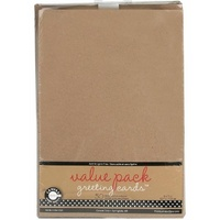 50 Blank Kraft Cards and Envelopes 5x7 175gsm