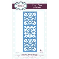 Sue Wilson Dies Striplet Collection Quilted Blocks CED1607