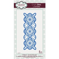 Sue Wilson Dies Striplet Collection Lattice and Lace CED1610