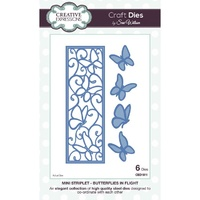 Sue Wilson Dies Striplet Collection Butterflies in Flight CED1611