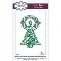 Sue Wilson Dies Festive Collection Illuminated Christmas Tree CED3002