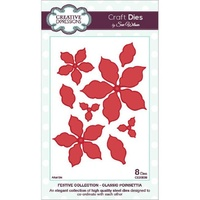 Sue Wilson Dies Festive Collection Classic Poinsettia CED3008