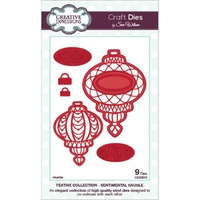 Sue Wilson Dies Festive Collection Sentimental Bauble CED3012