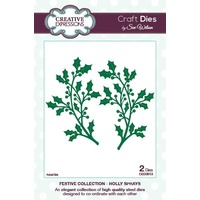 Sue Wilson Dies Festive Collection Holly Sprays CED3013