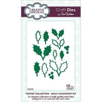 Sue Wilson Dies Festive Collection Holly Accessory Kit CED3014