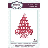 Sue Wilson Dies Festive Collection Christmas Tree Greetings CED3017