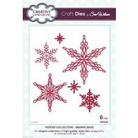 Sue Wilson Dies Festive Collection Snowflakes CED3020