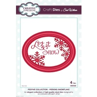 Sue Wilson Dies Festive Collection Peeking Snowflake CED3022