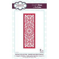 Sue Wilson Dies Festive Collection Snowflake Mini Striplet CED3036