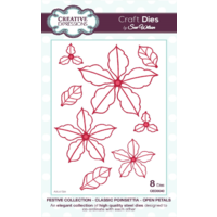 Sue Wilson Dies Festive Collection Classic Poinsettia Open Petals CED3040