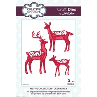 Sue Wilson Dies Festive Collection Deer Family CED3042
