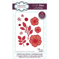 Sue Wilson Dies Festive Collection Christmas Rose CED3052