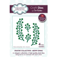 Sue Wilson Dies Festive Collection Berry Sprig CED3053