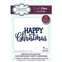 Sue Wilson Dies Festive Collection Contemporary Happy Christmas CED3065