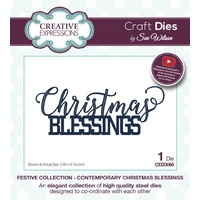 Sue Wilson Dies Festive Collection Contemporary Christmas Blessings CED3066