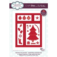 Sue Wilson Dies Festive Collection Christmas Shadow Box CED3071