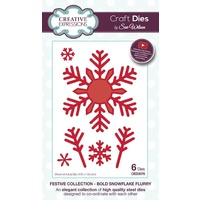 Sue Wilson Dies Festive Collection Bold Snowflake Flurry CED3076